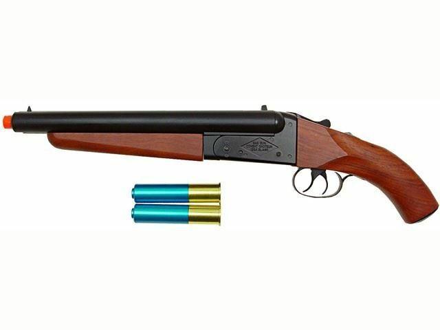 Break-Action Double Barrel Gas Airsoft Shotgun Toy