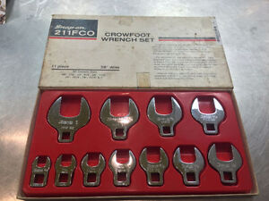 Snap-on, Crowfoot wrench set, Seulement 199.95$