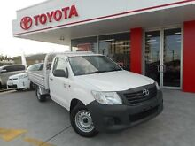 2013 Toyota Hilux TGN16R MY12 Workmate Glacier White 4 Speed Automatic Cab Chassis Allawah Kogarah Area Preview