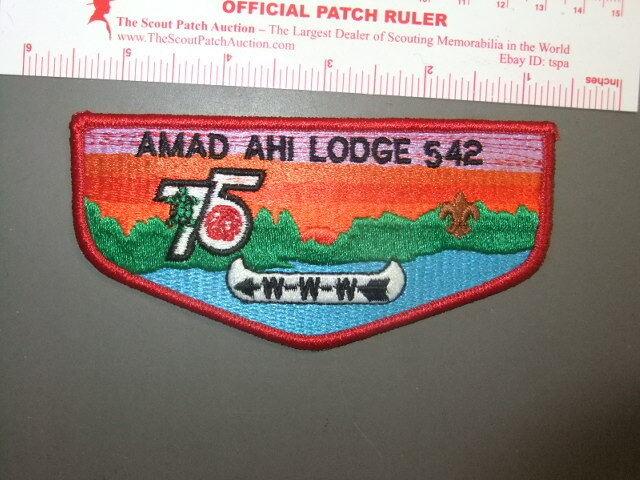 Boy Scout OA 542 Amad Ahi flap 0022CC
