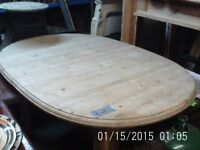 Large Oval Farmhouse Pine Dining / Breakfast Table