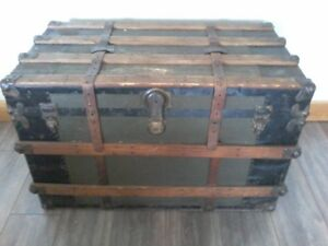Steamer trunk.