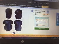 set of knee and elbow pads from halfords ..... bargain at £5.......