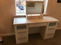 Sharps Dressing Table white with Mirror