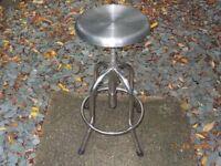 Height adjustable stool , stainless steel