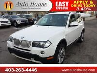 2010 BMW X3 30i PANORAMIC ROOF HEATED STEERING LOW KM