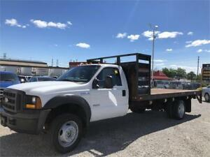 2005 Ford F-550 - XL - 16 Ft Flat Bed - 4x4 - Diesel - Dually