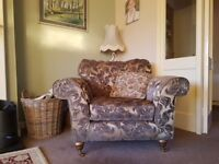 2 X 3 Seater Sofas and 1 x matching chair