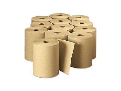 Hard Wound Paper Roll Towels 8 X 600brown 12case