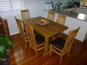 Solid Oak Dining Chairs x 6 Morningside Brisbane South East Preview