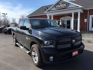 2013 Ram 1500 Sport 4x4, Leather Heated/Vented Seats, NAV, Sunro