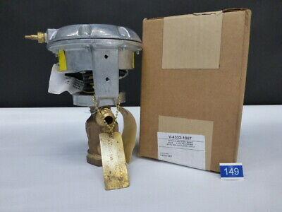 Johnson Controls V-4332-1007 12 3way Valve With V-3000 Pneumatic Actuator