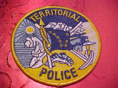 ALASKA STATE TERRITORIAL POLICE PATCH SHOULDER SIZE UNUSED 3 1/2 INCH