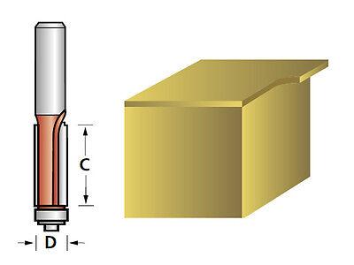 FAITHFULL BEARING GUIDED TCT FLUSH MINI TRIM ROUTER TRIMMER BIT - 6.3mm x 25.4mm