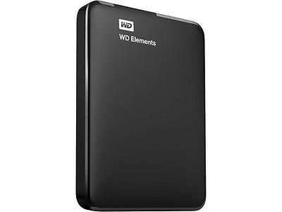 WD 1TB Elements Portable External Hard Drive USB 3.0 Model WDBUZG0010BBK-WESN Bl