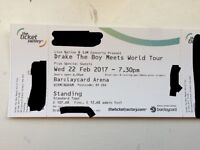 Drake concert tickets birmingham wed 22nd Feb