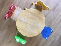 John Lewis 'animal' children's table and four chairs