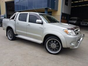 2008 Toyota Hilux KUN26R 08 Upgrade SR5 (4x4) Silver 4 Speed Automatic Moorebank Liverpool Area Preview