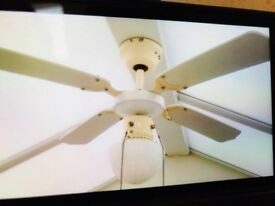 Encon ceiling fan with three lights in sandy bedfordshire gumtree ceiling fan light aloadofball Choice Image