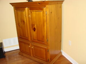 country pine armoire