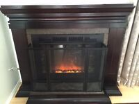 Remote Control Fire place with mantel