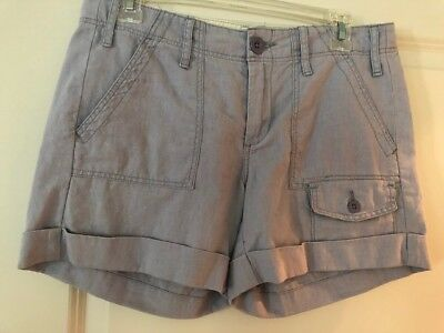 NWT Anthropologie PAPER BOY Size 4, Women's Lavender linen Cuffed Shorts