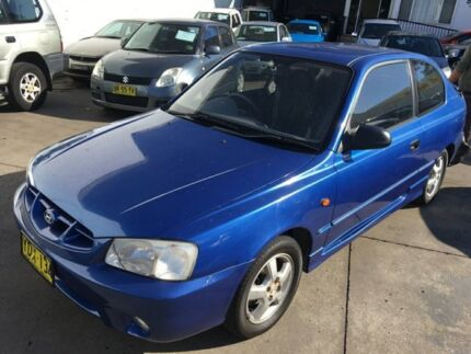 2002 Hyundai Accent LC GS Blue 4 Speed Automatic Hatchback Lidcombe Auburn Area Preview