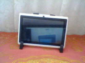 android tablet with a holder.
