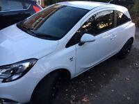 2015 Vauxhall Corsa 1.2 SRI model - 3 Dr - White - Black Alloys, Ex condition - GardX protected -