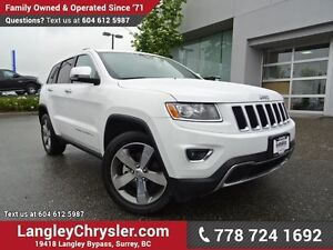 2016 Jeep Grand Cherokee Limited W/ 4X4, LEATHER UPHOLSTERY &...