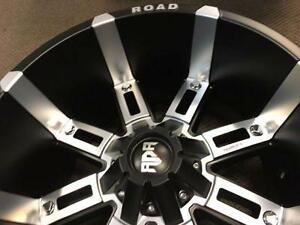 20 INCH BLACK/MACHINED FACE 8 BOLT 20X12 WITH -44 OFFSET $1590