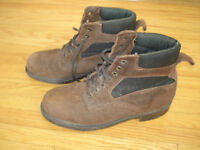 Suede Leather Steel Toe Work Boots