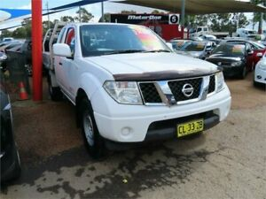 2012 Nissan Navara D40 S6 MY12 RX King Cab White 6 Speed Manual Cab Chassis Minchinbury Blacktown Area Preview
