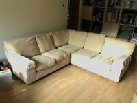 Marks & Spencers M&S Corner L-Shaped Sofa, Material Micro Chenille, Colour Stone