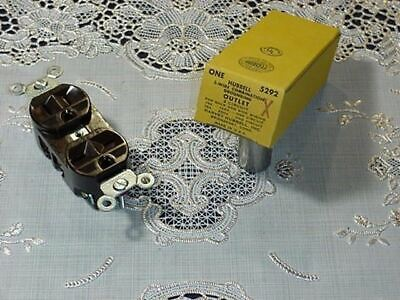 Hubbell 5292 3 Wire Combination Grounding Outlet Brown 2 Circuit 15a 125v250v