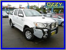 2007 Toyota Hilux KUN26R 07 Upgrade SR5 (4x4) White 4 Speed Automatic Dual Cab Pick-up Penrith Penrith Area Preview