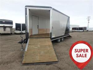SUPER SALE! 8.5 x 18 Drive-On/Drive-Off Sled Trailer *INSULATED*