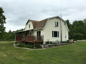 FARM with 120 acres, horse barn, garage, shed- Beauty house!