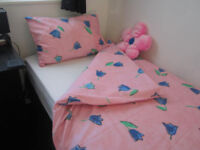 Single Bed size Pink Quilt cover and matching pillow case