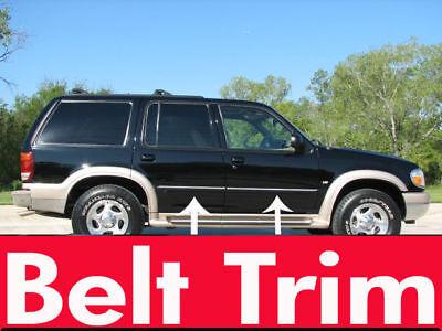 97 Ford Explorer Xlt (ford EXPLORER CHROME SIDE BELT TRIM DOOR MOLDING 95 96 97 98 99 00 01 )
