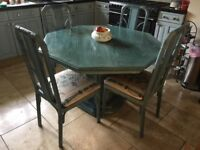 Extendable Spanish Table and Six Chairs