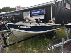 2008 BOAT PACKAGE ! 14' MIRRO WITH 25HP TWO STROKE YAMAHA!