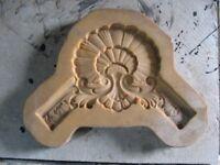Silicone decorative mould