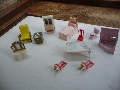 vintage  1960s  dolls  plastic  furniture
