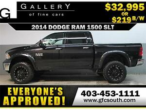 2014 DODGE RAM SLT LIFTED *EVERYONE APPROVED* $0 DOWN $219/BW!