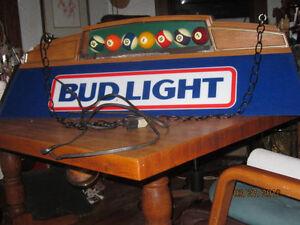 Vtg 1987 Budweiser Bud Light Beer Poker Card Pool Table