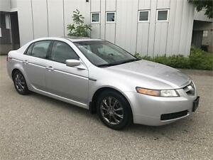 2004 ACURA TL AUTOMATIC SILVER ON BLACK LEATHER SUNROOF