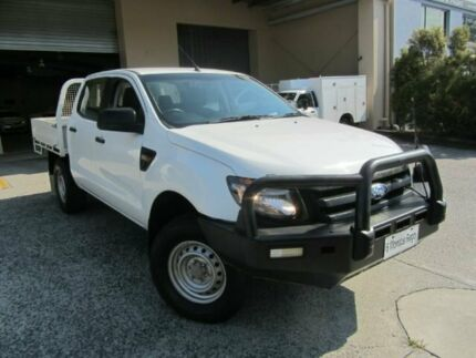 2012 Ford Ranger PX XL DUAL CAB White 6 Speed Manual Cab Chassis