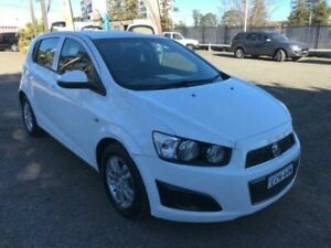 2012 Holden Barina TM MY13 CD White 6 Speed Automatic Hatchback Penrith Penrith Area Preview
