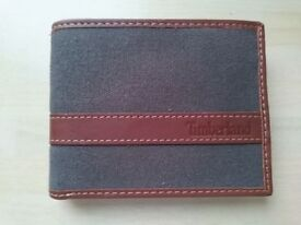 Timberland Mens Bifold Passcase Leather Wallet Charcoal NEW GENUINE